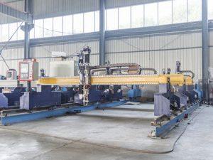 מכונת חיתוך צלחת מתכת cnc אינטליגנטית Gantry מכונות חותך פלזמה ולהבה אוטומטית