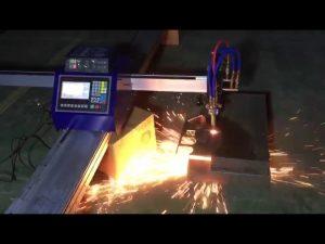עלות נמוכה מיני נייד מכונת חיתוך פלזמה להבת צינור cnc לחיתוך נירוסטה מתכת