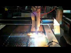 עלות נמוכה חותך פלזמה גיליון פלדת cnc מכונת חיתוך פלזמה קטנה